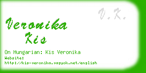 veronika kis business card
